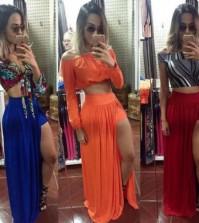 Invista na moda de short saia longa já, para repaginar o seu visual (Foto: mercadolivre.com.br)