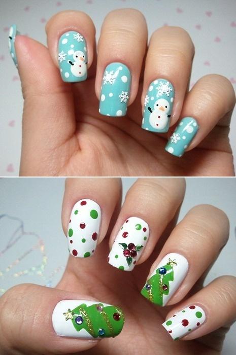 como fazer as unhas para o natal