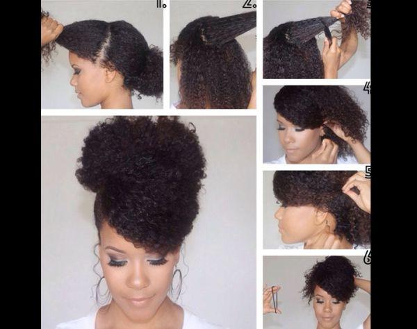 penteado com cachos