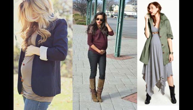 moda gestante inverno