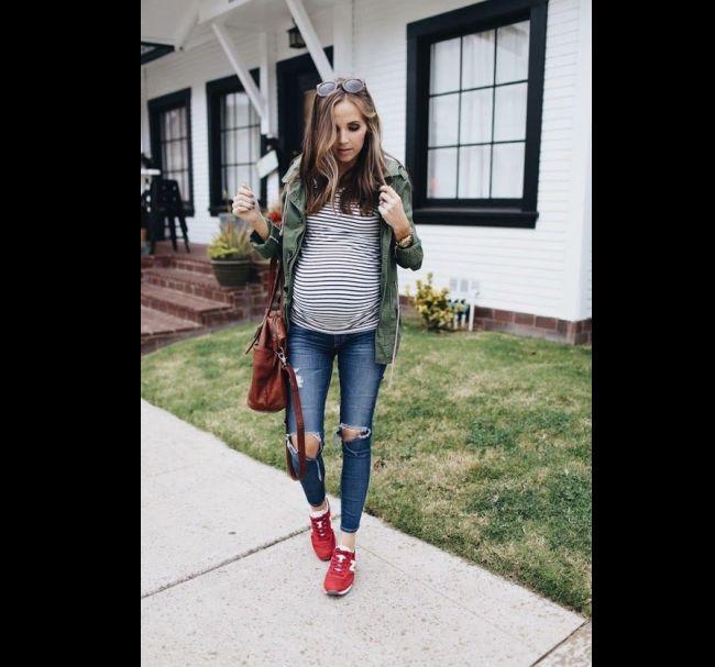moda gestante jeans
