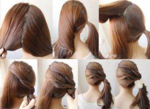 penteado torcido