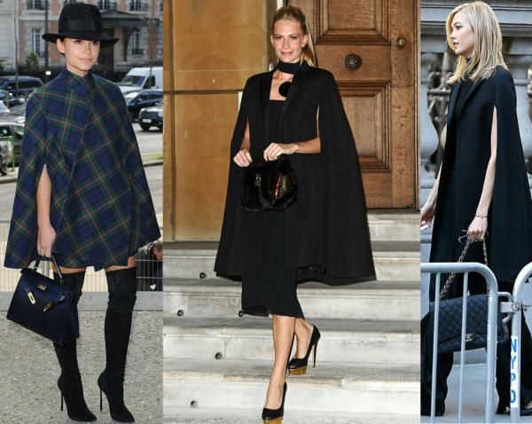 Pelerine na moda inverno