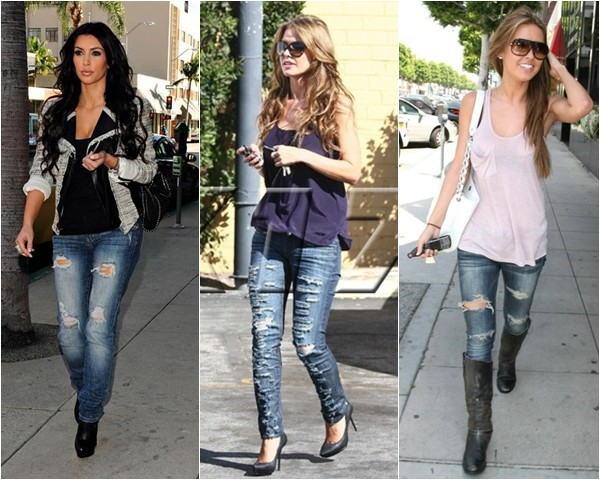 como usar calça-jeans-rasgada