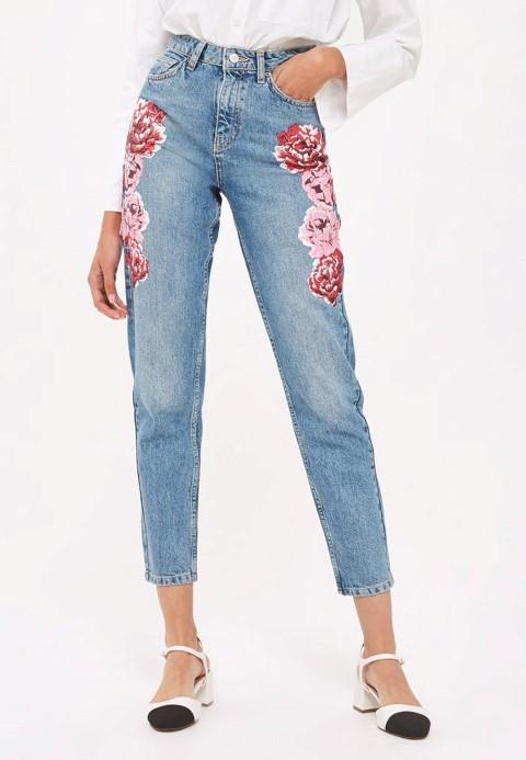 calça mom jeans delicada